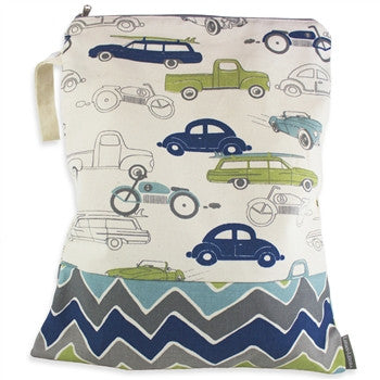 Logan + Lenora Zoom Cars Classic Wet Bag