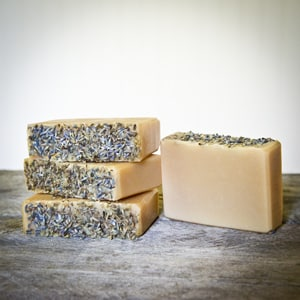 The Freckled Farm Soap Company - Lavender (topped)