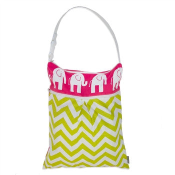 Logan + Lenora Pink Elephant Daytripper Wet + Dry Tote