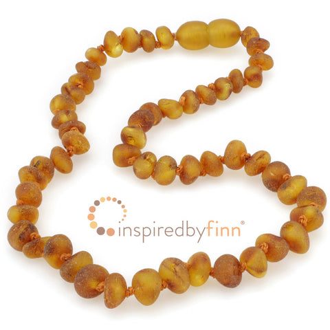 Inspired By Finn Baltic Amber Necklace- Unpolished Cider ADULT