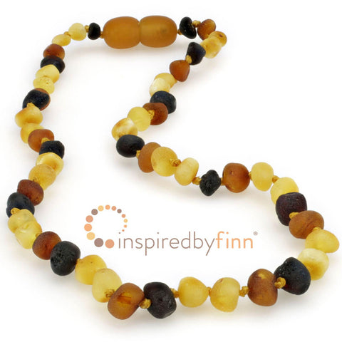 Inspired By Finn Baltic Amber Necklace- Unpolished Diversity