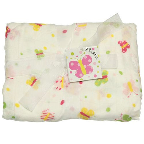 Imagine Bamboo Swaddle Blanket- Flutter