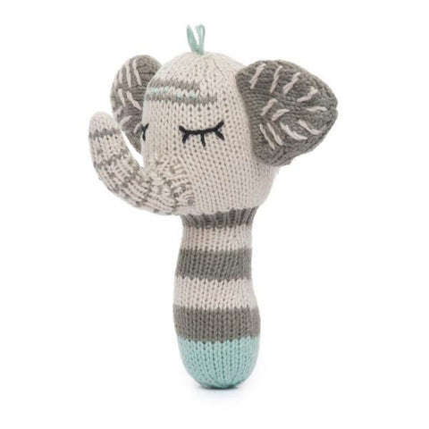 Finn + Emma Organic Mini Rattle- Kellan the Elephant