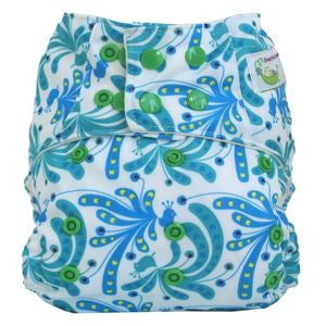 Sweet Pea Microfiber Pocket Diaper - Peacock Plume