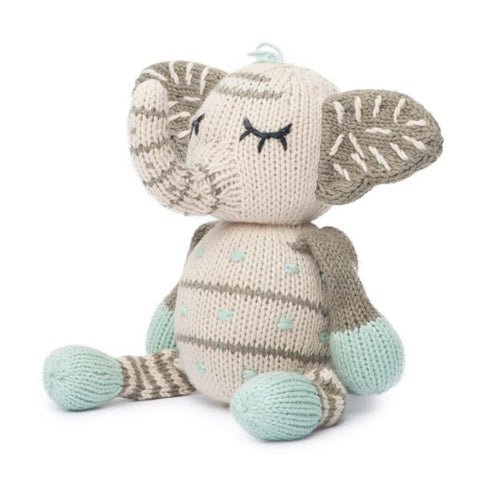Finn + Emma Organic Rattle Buddy- Kellan the Elephant