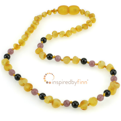 Inspired By Finn Baltic Amber Necklace- Unpolished Harvest + Curbs Hyperactivity
