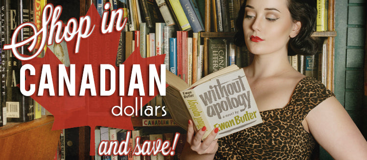 Shop in Canadian Dollars at Retro Glam and Save