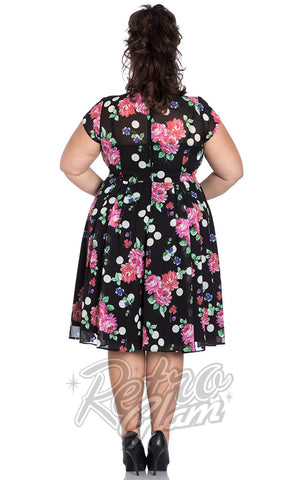 Hell Bunny Bloomsbury 50's Dress Plus Size back
