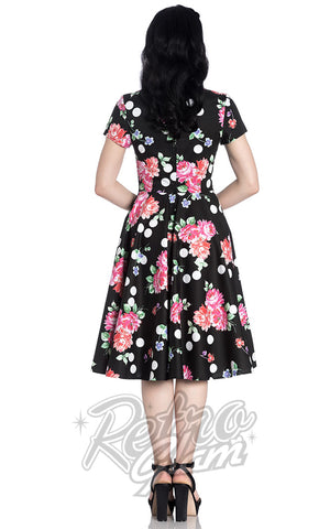 Hell Bunny Collarette 50's Dress back