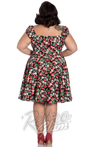 Hell Bunny Strawberry Sundae Mid Dress Curvy Back