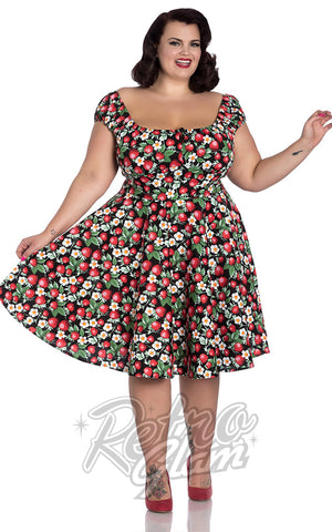 Hell Bunny Strawberry Sundae Mid Dress Curvy