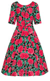 Hell Bunny Dress Roses back