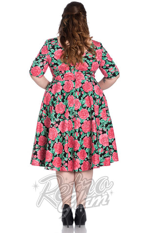 Hell Bunny Darcy 50's Dress Curvy back