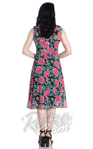 Hell Bunny Eden Rose Dress back