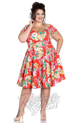 Hell Bunny Marguerita 50's Dress Curvy