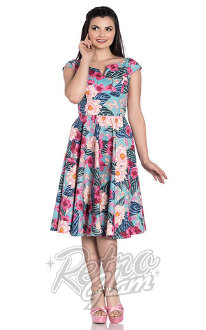 Hell Bunny Lotus Dress floral