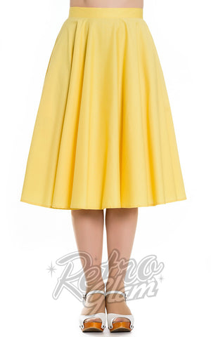 Hell Bunny Paula 50s Skirt in Yellow