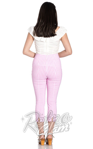 Hell Bunny Judy Capris in Pink Gingham back