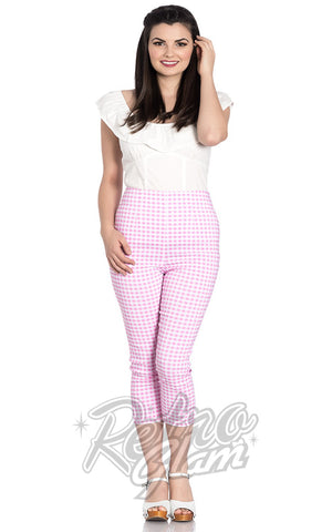 Hell Bunny Judy Capris in Pink Gingham