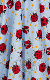 Hell Bunny Lila 50's Skirt ladybirds fabric