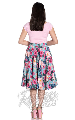 Hell Bunny Lotus 50s Skirt Back