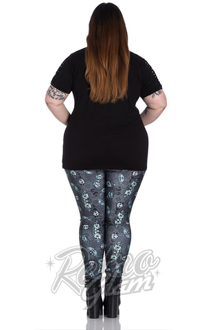 Spin Doctor Death's Head Leggings back