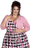 Hell Bunny Maggie Bolero in Candy Pink Plus size