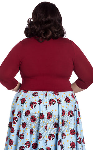 Hell Bunny Maggie Bolero in Red plus size back