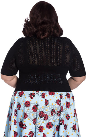 Hell Bunny Loretta Cardigan in Black Plus Sized Back