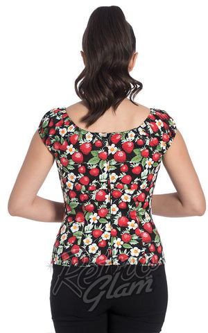 Hell Bunny Strawberry Sundae Top back