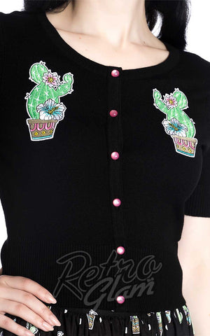 Hell Bunny Cactus Cardigan detail