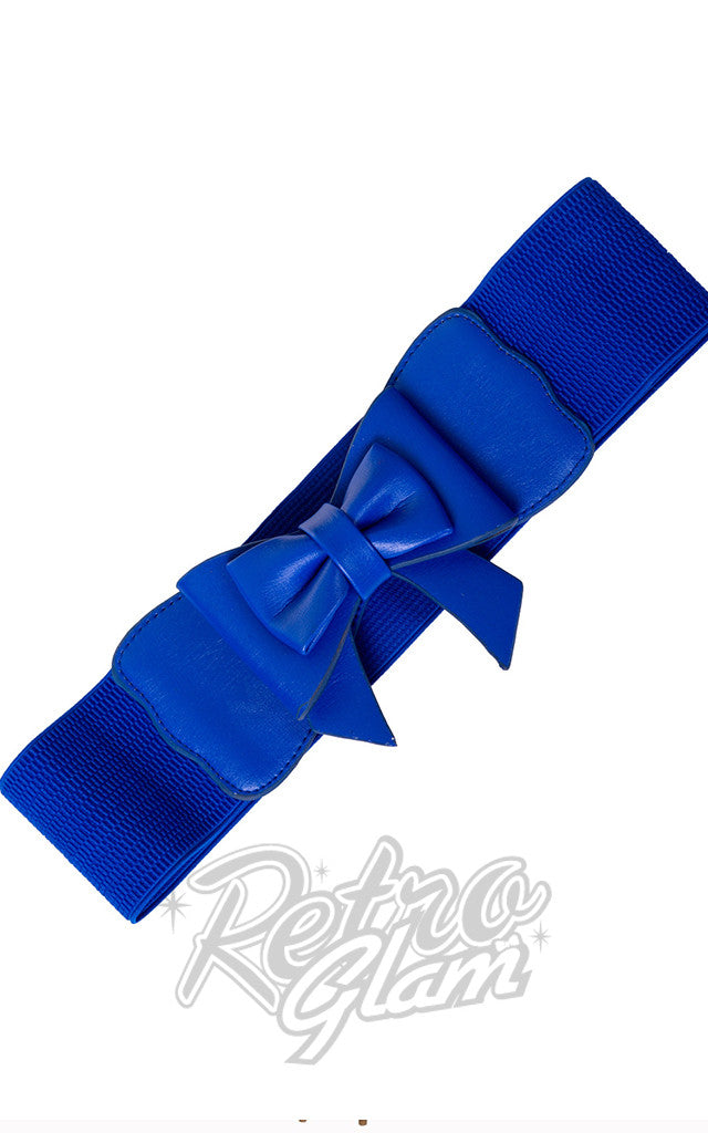 Banned Play it Right Belt in Royal Blue