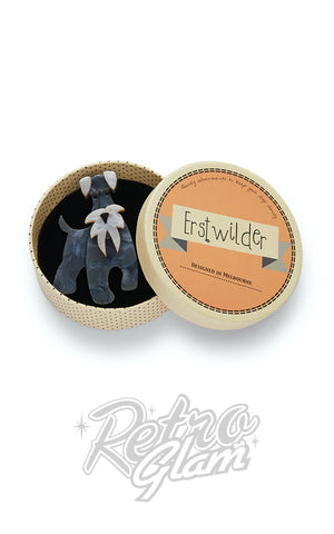 Erstwilder The Schnauzer And Klaus Brooch box