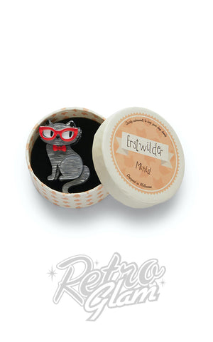 Erstwilder Elissa the Indie Cat Mini Brooch box