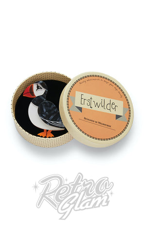 Erstwilder Piccolo Puffin Brooch box