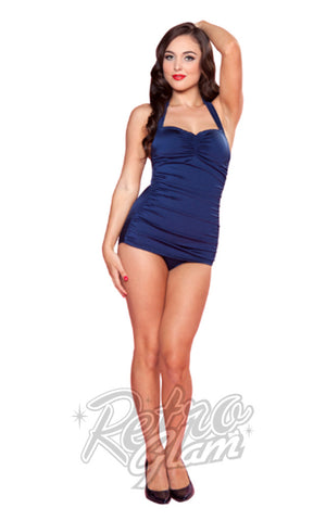 Esther Williams Classic Sheath Swimsuit in Navy