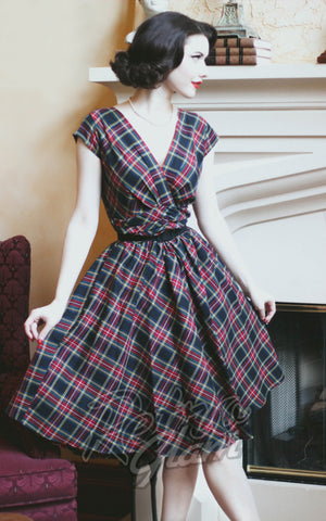 Retrolicious by Folter Eleanor Dress in Plaid