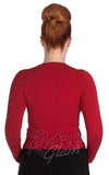 Hell Bunny Paloma Cardigan in Red back