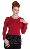 Hell Bunny Paloma Cardigan in Red