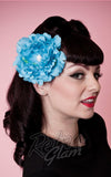 Heart of haute hair flower in turquoise