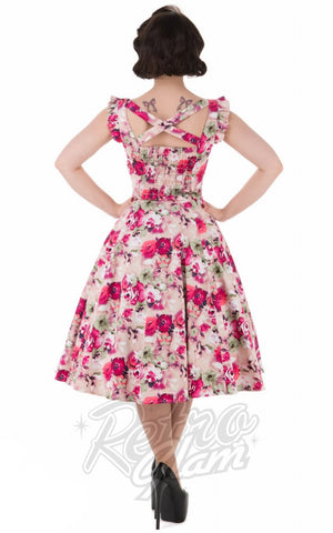 Hearts and Roses 50's Samantha Sun Dress back
