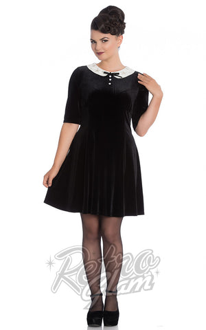 Hell Bunny Snowy Mini Dress in Black