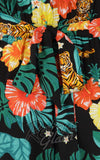 Hell Bunny Bali Jumpsuit detail fabric