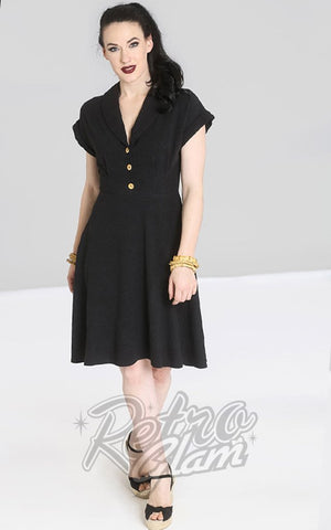 Hell Bunny Sahara Dress in Black