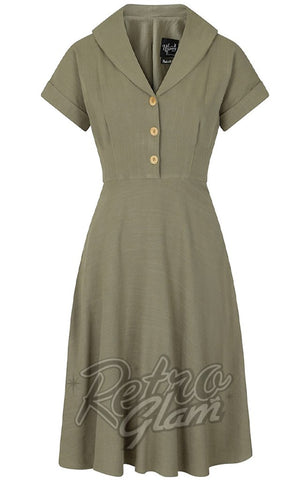 Hell Bunny Sahara Dress in Khaki