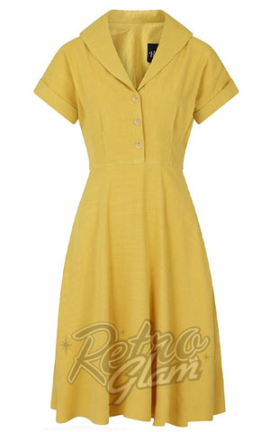 Hell Bunny Sahara 50's Dress in Yellow