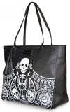 Loungefly Embossed Bandana Skull Tote With Tassels front side