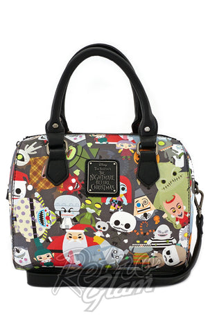 Loungefly Disney Nightmare Before Christmas Chibi Character Duffle Bag front