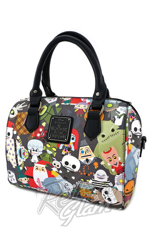 Loungefly Disney Nightmare Before Christmas Chibi Character Duffle Bag side