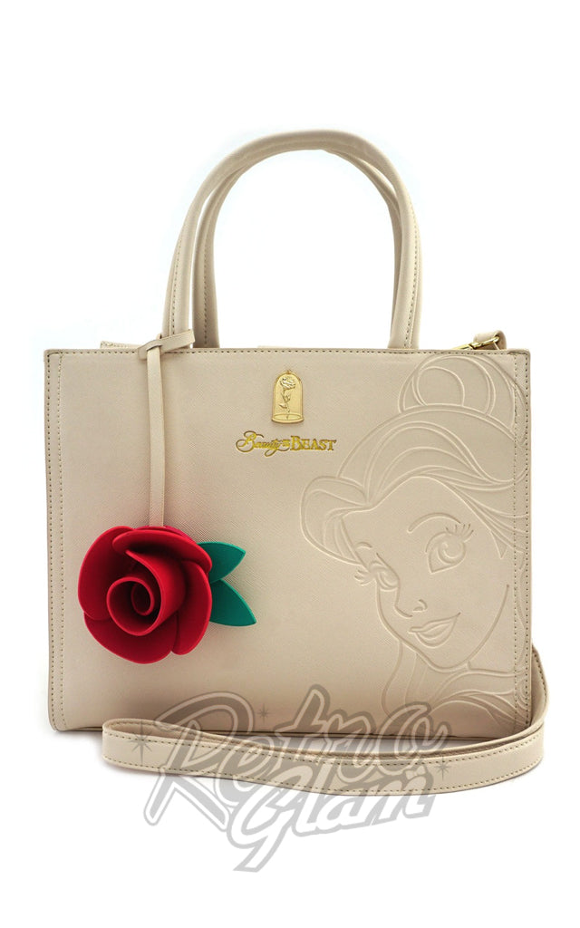 Loungefly Disney Belle Embossed Tote Bag